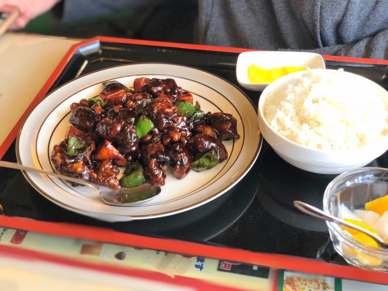 大蓮飯店の黒酢すぶたの画像