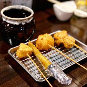 【KUSHI SAKABA KEYAKI(串酒場けやき)】カマンベールチーズ串が美味い!おでんも美味しかったです。