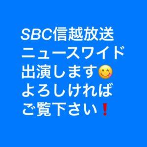 【お知らせ】12月3日(木)SBC信越放送「ニュースワイド」18時15分に出演します(芹田不動産)