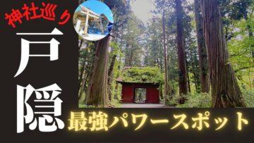 【戸隠神社】最強のパワースポット!杉並木が堂々と。SBCスペシャルにも出てた!森林浴も出来るヒーリングスポット!
