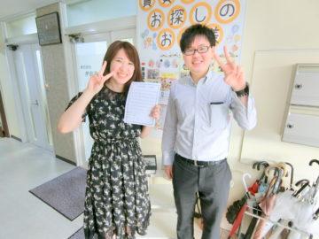 【お客様の口コミ】長野県出身 S・Y様より賃貸アパート探しの感想を頂きました