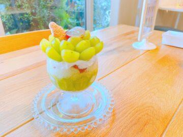 【Sweets market cafeスイーツマーケットカフェ】須坂でめちゃくちゃ美味しいマスカットパフェ食べた!インスタ映え間違いなしです☆