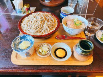 【手挽きそば蔵之内(くらのうち)】鯛漬け丼蕎麦セット美味し。雰囲気のあるお蕎麦屋さん☆個室あり!日本酒あり!
