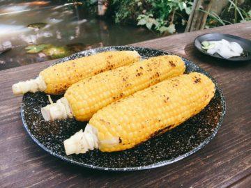 【焼とうもろこしのお店 小林農園】長野県信濃町の甘ーい、焼トウモロコシ☆彡