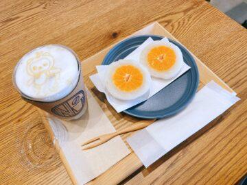 【N vintage coffee(エヌヴィンテージコーヒー)】2021年3月31日新規オープン☆可愛いフルーツ大福やアルクマくんのラテ!!