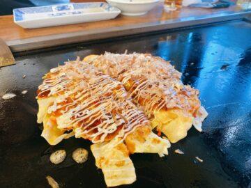 【キッチンひまわり】ふわっふわの美味しいお好み焼き!ちゃんぽんとかも有名らしいよ!