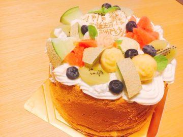 【天使のケーキ(てんしのけーき)】誕生日には、可愛いデコレーションシフォンケーキ!