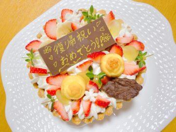 【てんしのけーき】赤ちゃんから食べられるシフォンケーキ☆感動のお祝いデコレーションケーキ!