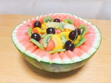 【そーゆーすいか】松本市波田のスイカが美味い!長野のすいかの名産地☆フルーツポンチにしてみました♪