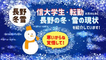 【長野市の冬・雪の降り方】信大工学部の学生さん・親御様、転勤の方へ。